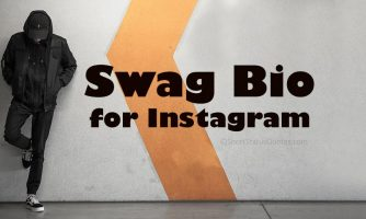 Swag Bio for Instagram – Short, Classy & Trendy