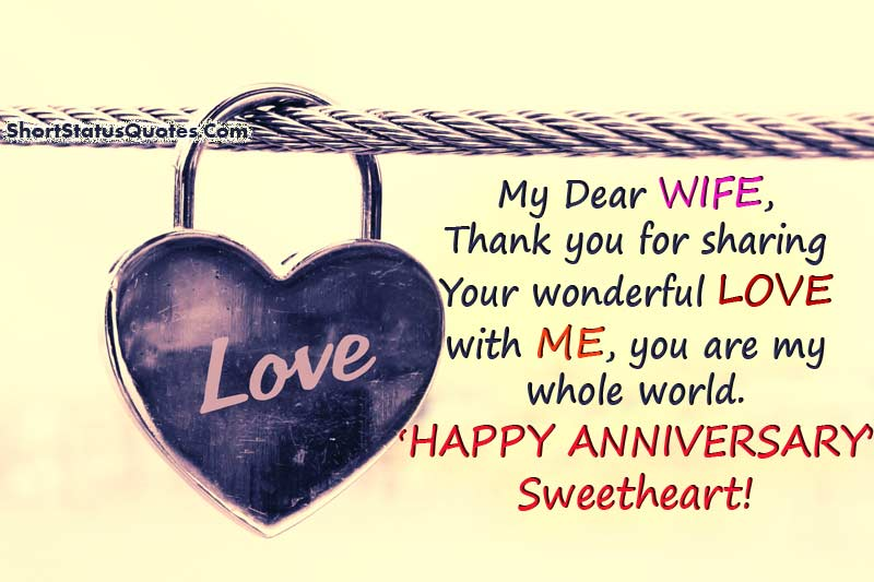 Anniversary Status for Wife - Anniversary Wishes Quotes
