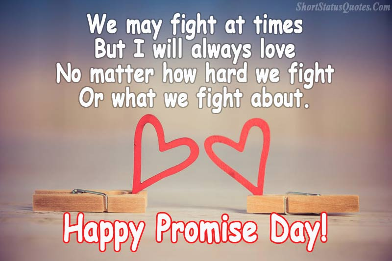 Promise day status short quotes and messages for