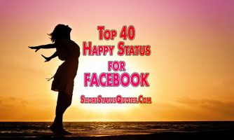 Happy Status for Facebook, Photo Captions and Message