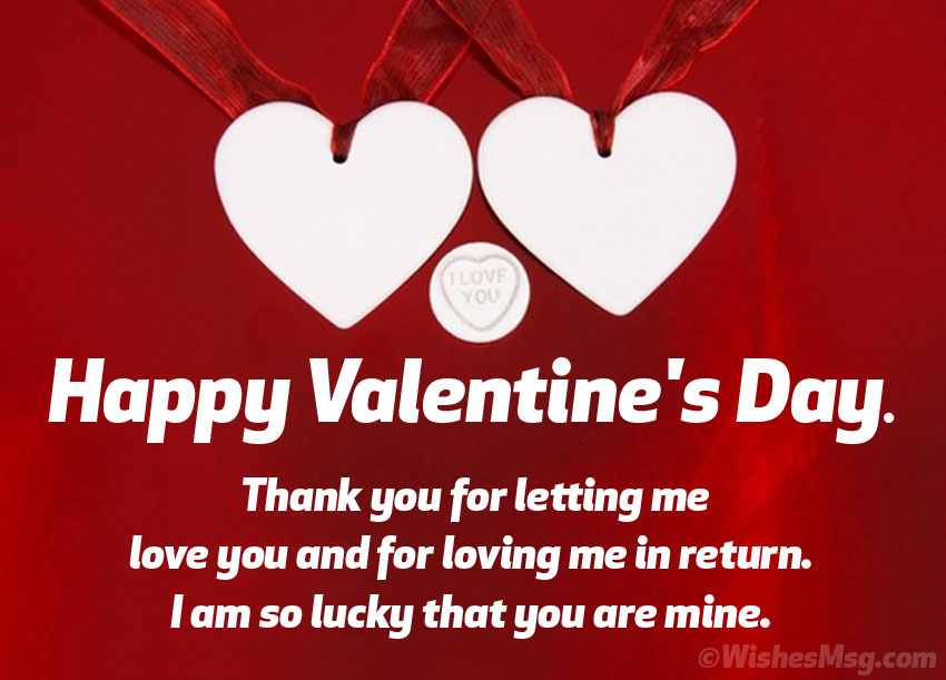 Valentine Wishes Status for Him