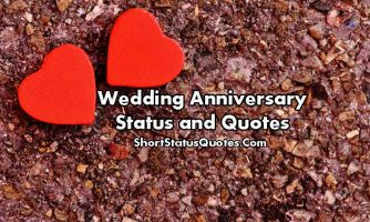 Wedding Anniversary Status for Facebook, Whatsapp and Instagram