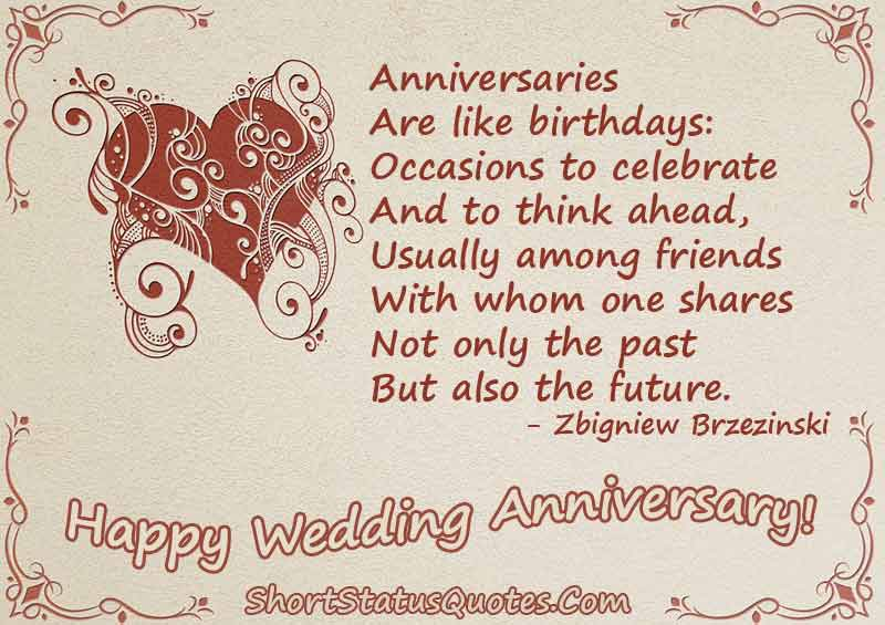 Wedding Anniversary Status Messages