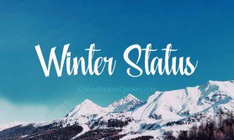 75+ Best Winter Status, Captions & Short Winter Quotes