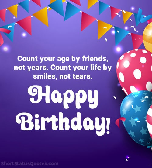 birthday wishes status for friends