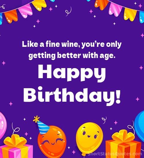 funny birthday wishes status