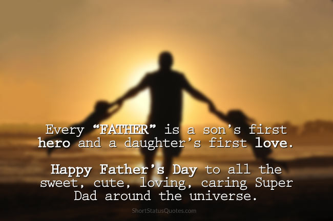 happy fathers day status wishes