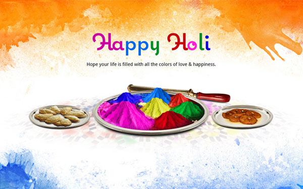 happy holi status wishes