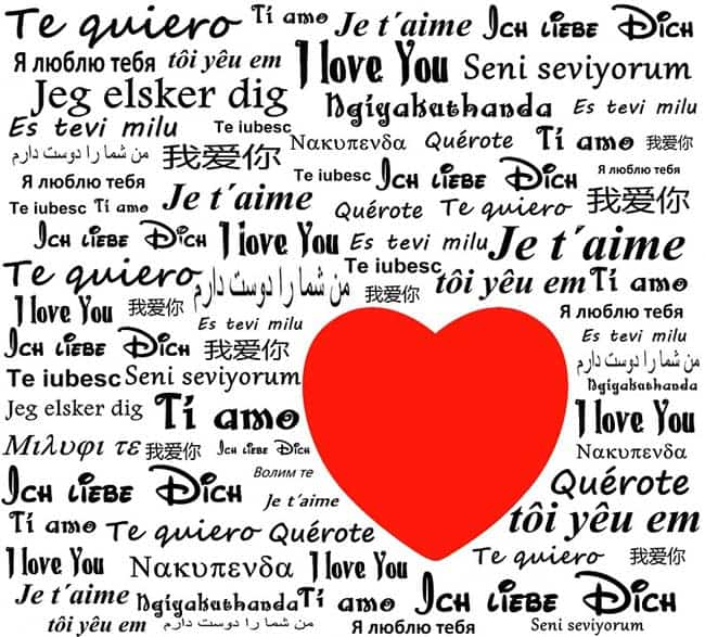 how to say i love you in different languages