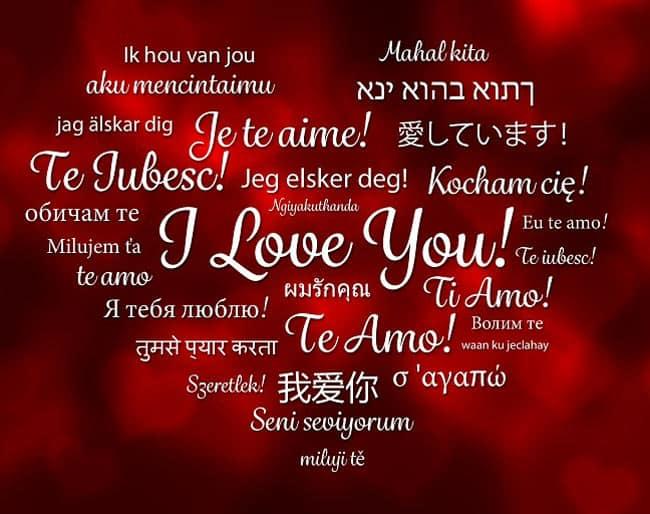 Love Status In Different Languages