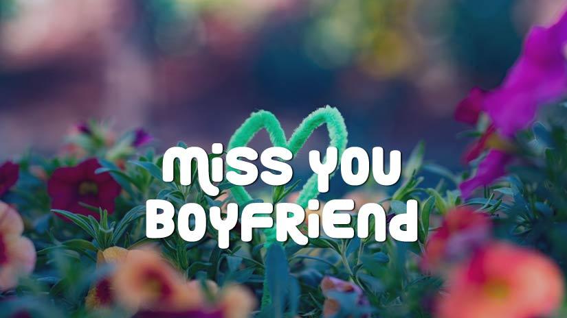 Miss You Status For Boyfriend Cute Romantic Touchy Captions