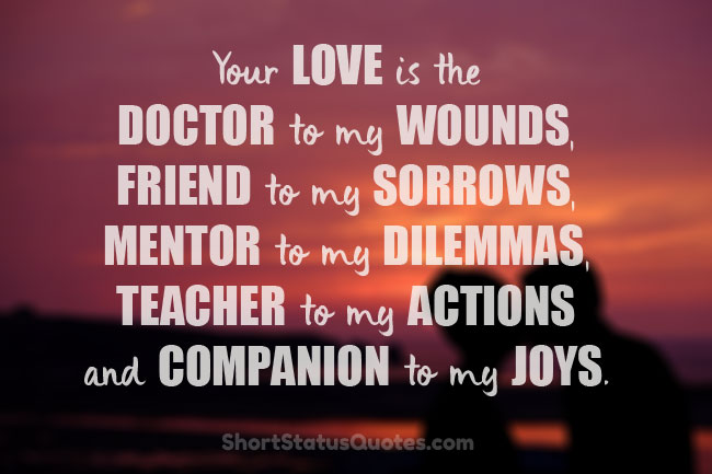 Love Status For Husband - Romantic Messages and Quotes