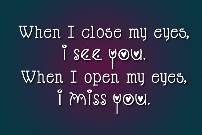 romantic miss you caption