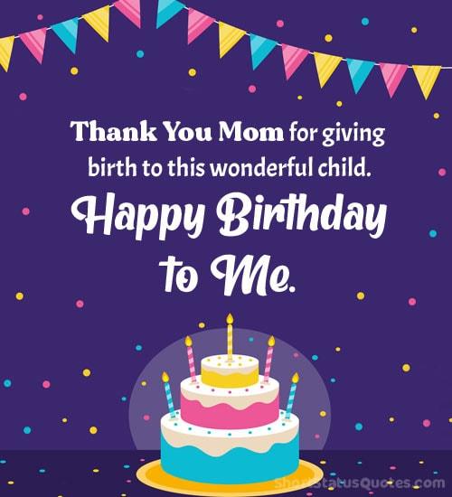 self birthday wishes status